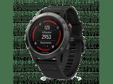 Умные часы черные с черным ремешком и HRM-Tri Garmin Fenix 5 Sapphire