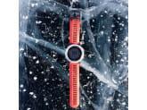 Умные часы cеребряные с красным ремешком Garmin Fenix 3