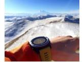 Умные часы cеребряные с красным ремешком и пульсометром Garmin Fenix 3 HRM