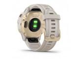 Умные часы золотистые с песочным ремешком Garmin Fenix 6s Pro Solar