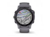 Умные часы аметистовые с темно-серым ремешком Garmin Fenix 6s Pro Solar