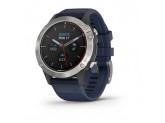 Умные часы серые с синим ремешком Garmin Quatix 6
