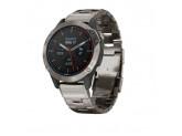 Умные часы титановые с титановым ремешком Garmin Quatix 6 Sapphire