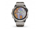Умные часы титановые с титановым ремешком Garmin Quatix 6x Solar
