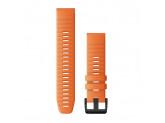Ремешок сменный оранжевый Garmin QuickFit 22 мм (силикон)