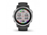 Умные часы серебристые с черным ремешком Garmin Fenix 6S
