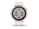 Умные часы розовое золото с белым ремешком Garmin Fenix 6S Pro