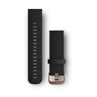 Ремешок сменный (уретан) черный с золотистой пряжкой Garmin