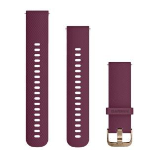 Ремешок сменный (уретан) темно-вишневый с золотистой пряжкой Garmin