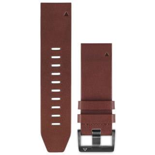 Ремешок сменный (кожа) коричневый Garmin QuickFit 26 мм