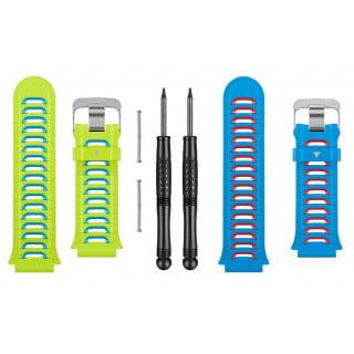 Ремешки сменные (пластик) зеленый/синий Garmin для Forerunner
