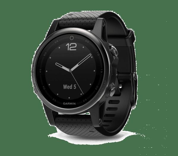 Умные часы черные с черным ремешком Garmin Fenix 5s Sapphire