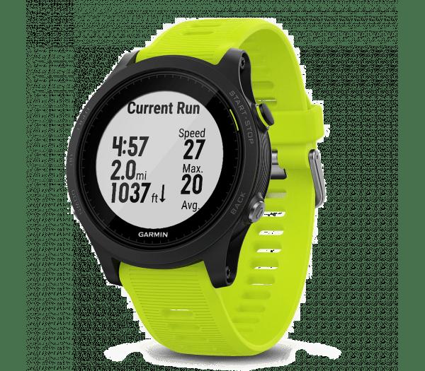 Умные часы желтые с пульсометром Garmin Forerunner 935 HRM-Tri