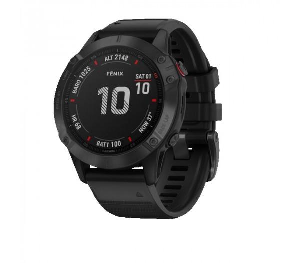 Умные часы черные с черным ремешком Garmin Fenix 6 Pro