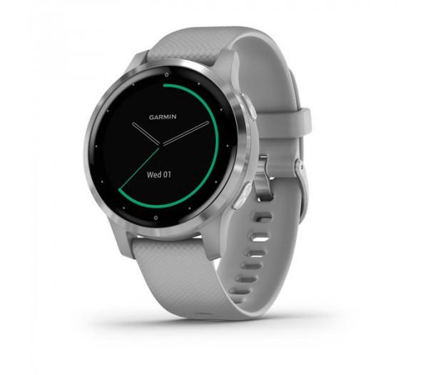 Умные часы серые с серебристым безелем Garmin Vivoactive 4s