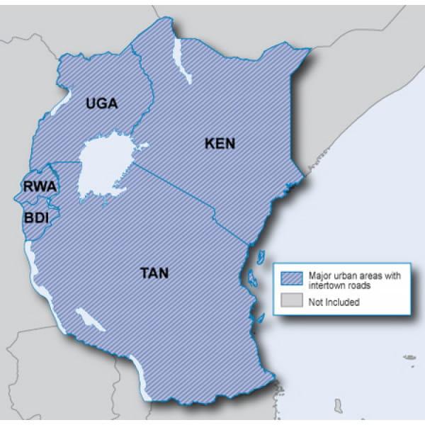 Карта Garmin Navteq City Navigator: Eastern Africa NT 2012.10