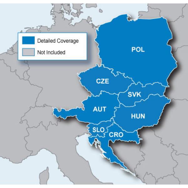 Карта Garmin Navteq City Navigator: Europe NT – Northwest Eastern Europe