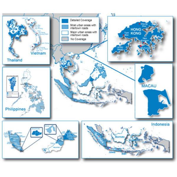 Карта Garmin Navteq City Navigator: Southeast Asia NT 2012.20
