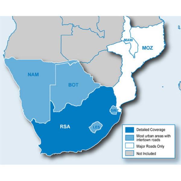 Карта Garmin Navteq City Navigator: Southern Africa NT 2012.20