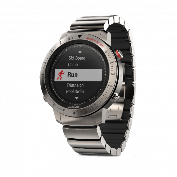 Умные часы титановые с титановым браслетом Garmin Fenix Chronos