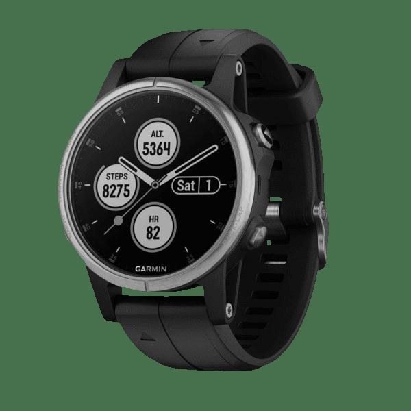 Умные часы черные с черным ремешком Garmin Fenix 5S Plus