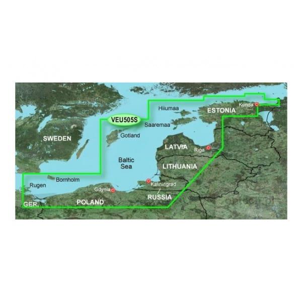 Карта водоемов Балтийское море (восточная часть) Garmin EU505S