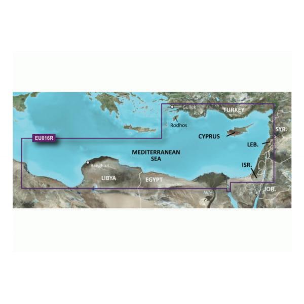 Карта водоемов Юго-восток Средиземноморья Garmin VEU016R
