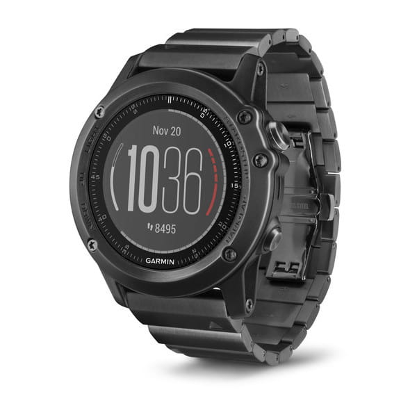 Умные часы черные с металлическим браслетом Garmin Fenix 3 Sapphire HR
