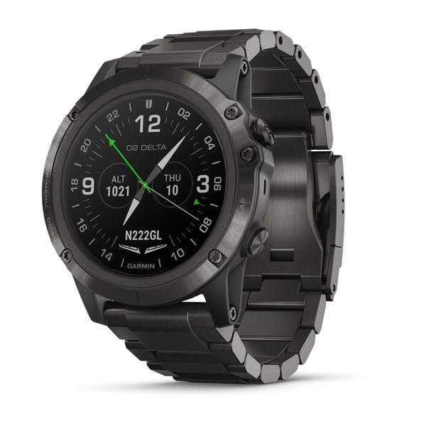 Умные авиационные часы с титановым DLC ремешком Garmin D2 Delta PX
