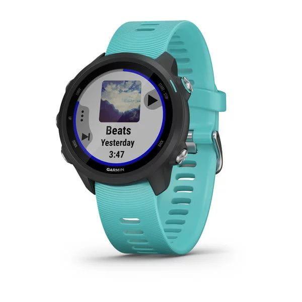 Умные часы черные с бирюзовым ремешком Garmin Forerunner 245 Music