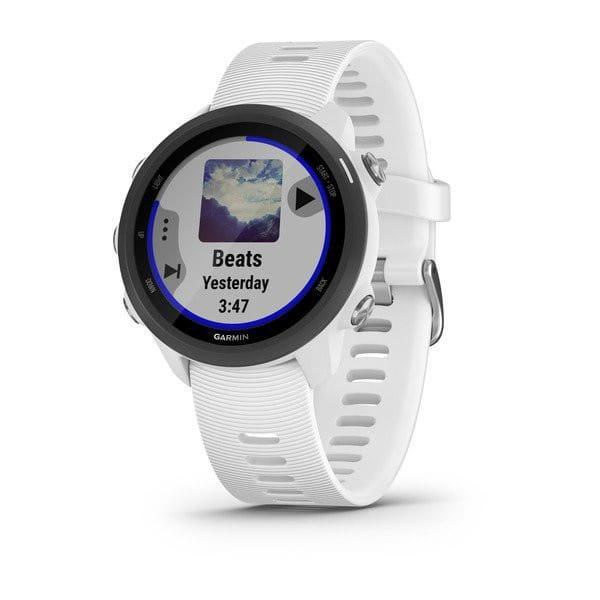 Умные часы белые с белым ремешком Garmin Forerunner 245 Music