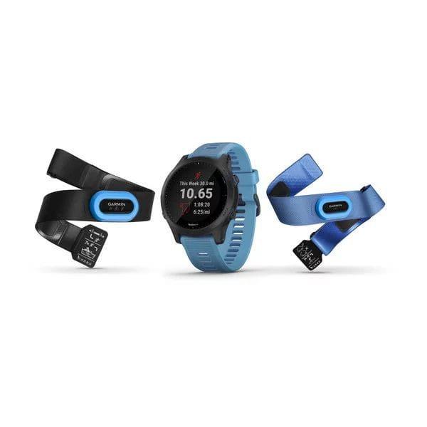 Умные часы синие Garmin Forerunner 945 комплект HRM