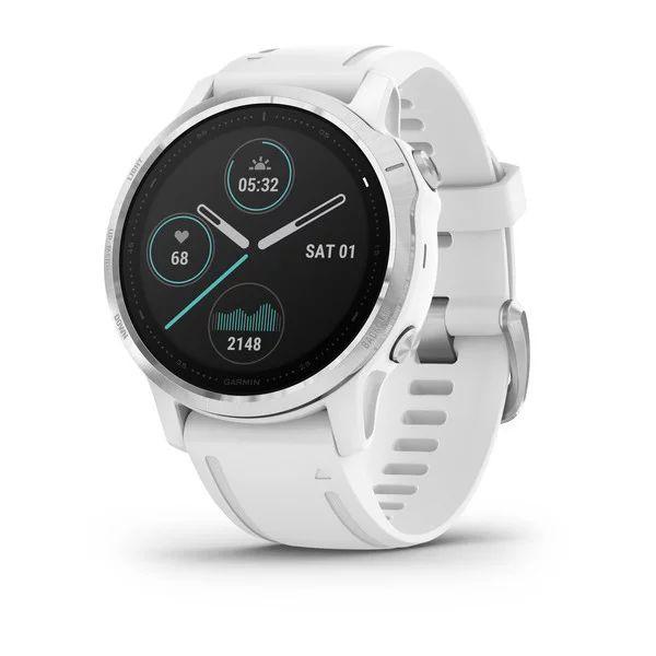 Умные часы белые с белым ремешком Garmin Fenix 6S Pro