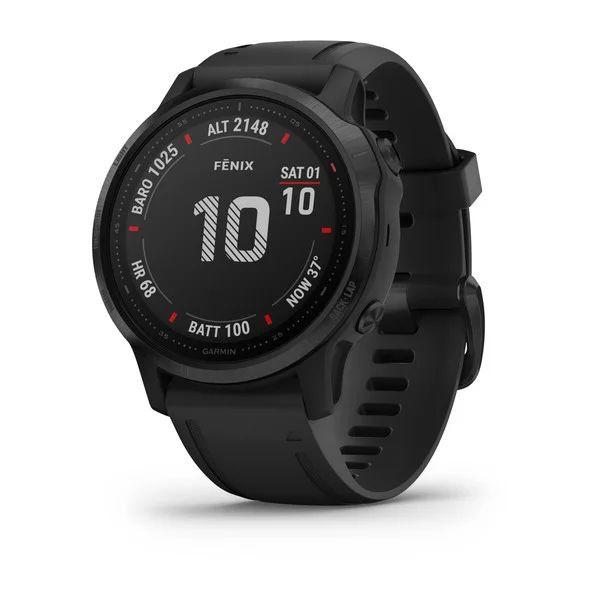 Умные часы черные с черным ремешком Garmin Fenix 6S Pro
