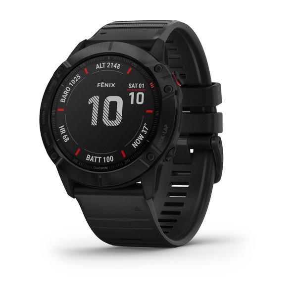 Умные часы черные с черным ремешком Garmin Fenix 6X Pro