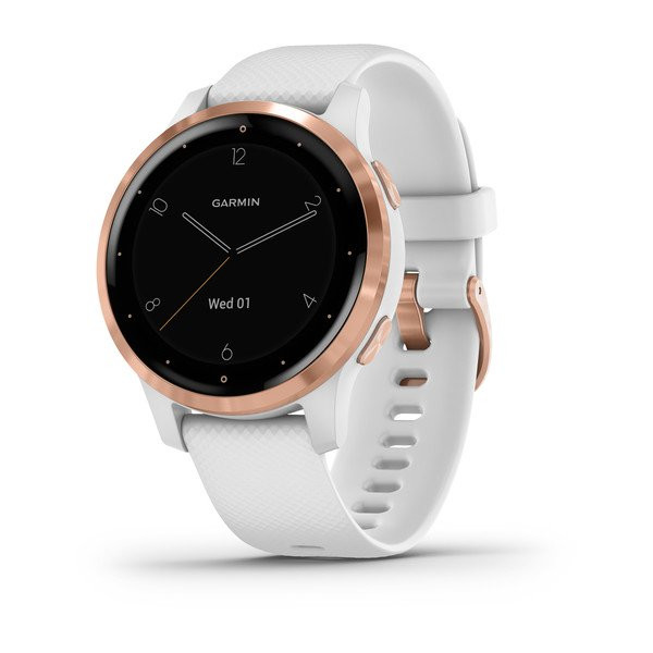 Умные часы белые с золотистым безелем Garmin Vivoactive 4s