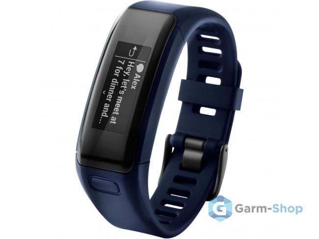 Умный браслет синий Garmin Vivosmart HR