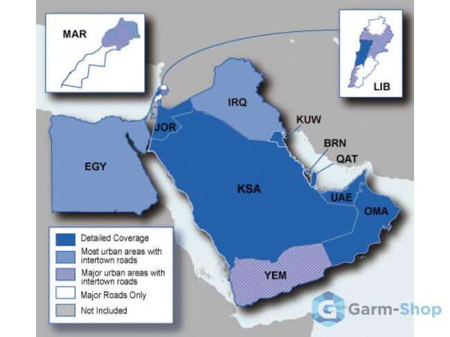 Navteq City Navigator: Middle East and Northern Africa NT 010-11550-00 в фирменном магазине Garmin