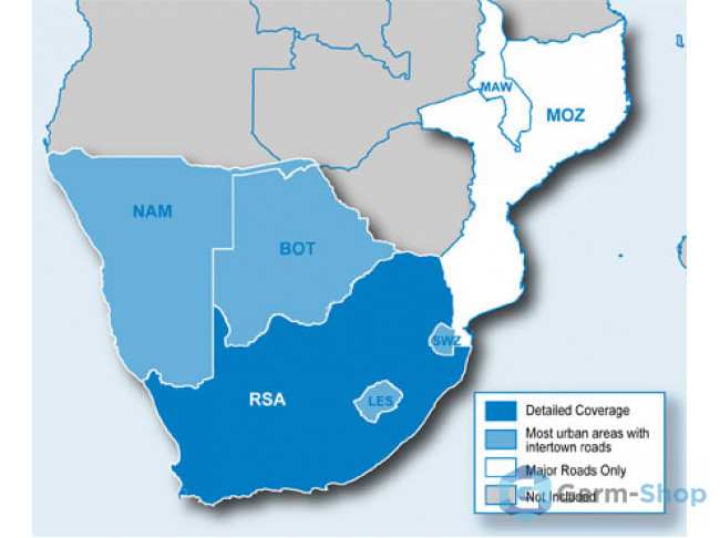 Navteq City Navigator: Southern Africa NT 2012.20 010-11595-00 в фирменном магазине Garmin