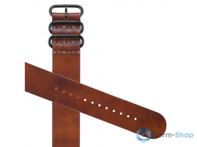Ремешок сменный (кожа) коричневый Garmin Fenix 3