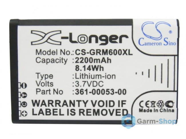 Li-on для Montana CS-GRM600XL в фирменном магазине Garmin