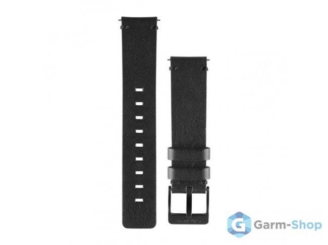 Ремешок сменный (кожа) черный Garmin QuickFit 22 мм
