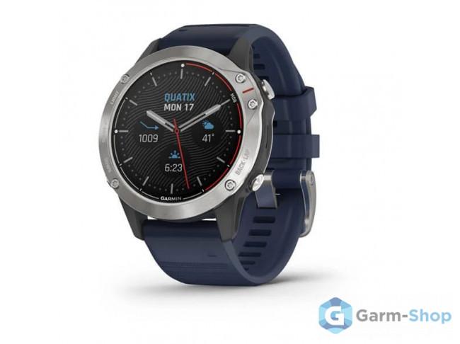 Quatix 6 серые с синим ремешком 010-02158-91 в фирменном магазине Garmin