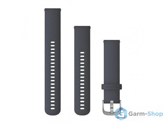 Quick Release 20 мм (силиконовый) синий гранит с серебристой зас 010-12932-10 в фирменном магазине Garmin
