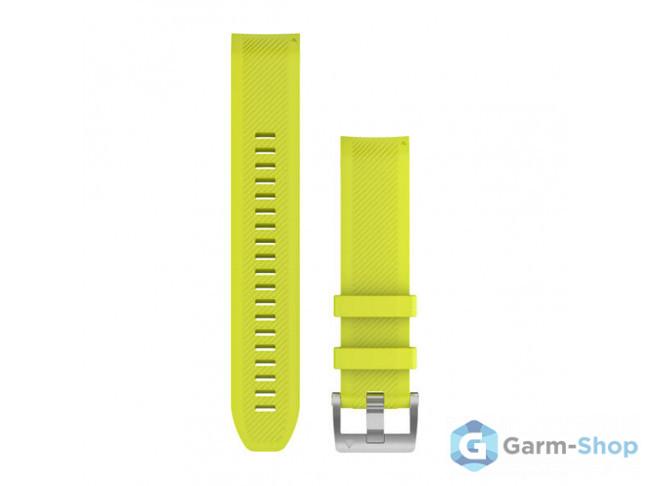 QuickFit 22 мм (силикон) желтый, серебристая застежка 010-12738-16 в фирменном магазине Garmin