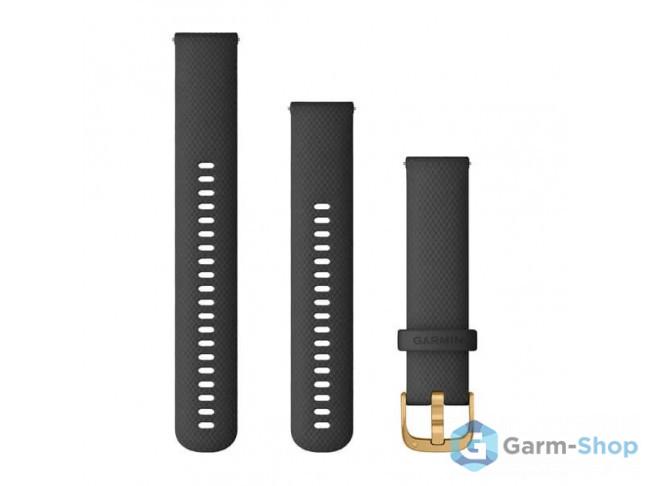 Quick Release 20 мм (силиконовый) черный с золотистой застежкой 010-12932-13 в фирменном магазине Garmin