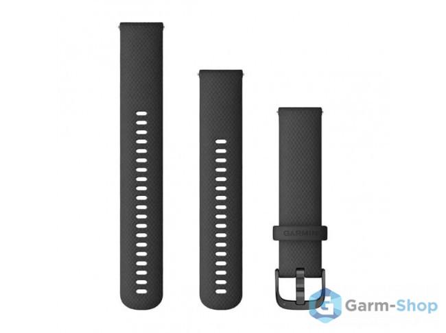 Quick Release 20 мм (силиконовый) черный с серой с застежкой 010-12932-11 в фирменном магазине Garmin