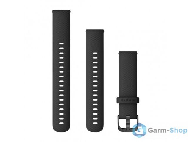Quick Release 18 мм (силиконовый) черный с черной застежкой 010-12932-01 в фирменном магазине Garmin