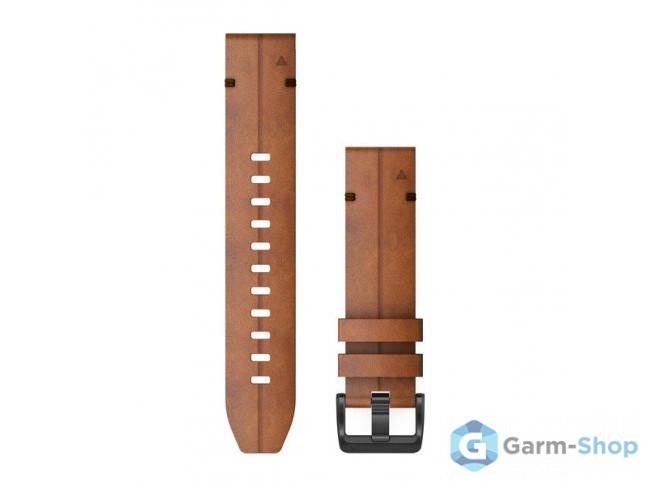 QuickFit 22 мм (кожаный) коричневый, ореховый 010-12863-05 в фирменном магазине Garmin