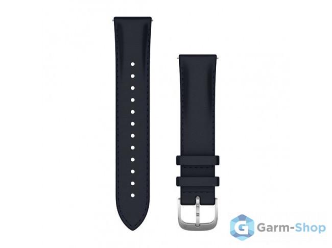 Quick Release 20 мм (итальянская кожа) темно-синий с серебристой 010-12924-20 в фирменном магазине Garmin